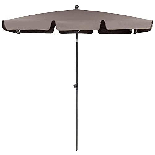 Paraguas inclinable para exteriores, 7 pies, portátil, para exterior, para patio, para jardín, para mesa de jardín, con 4 varillas de acero en forma de U para mesa de patio, actividades al aire libr