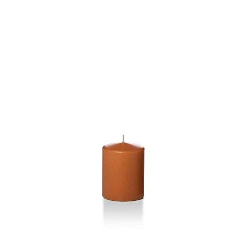 Yummi 2.25' x 3' Toffee Slim Round Pillar Candles - 4 per Pack