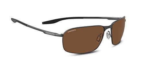 Serengeti Varese Sunglasses Brushed Black Unisex-Adult Large