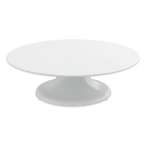 thermohauser Tortenplatte aus Melamin weiß, rund, Durchmesser 32,0x10,0 cm, mit Drehfuß, Kunststoff