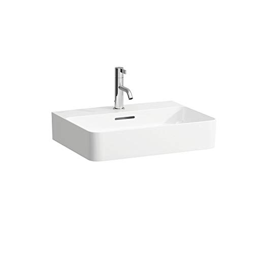 Laufen VAL Möbel-Waschtisch, 3 Hahnlöcher, mit Überlauf, 550x420, weiß, Farbe: Weiß