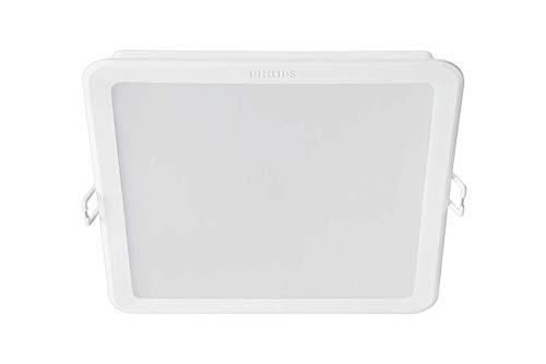 Philips Lighting MyLiving Meson Foco Empotrable Cuadrado 17W, luz cálida (4000K), Iluminación Interior, Blanco Frío, 150 mm