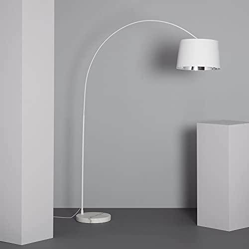 LEDKIA LIGHTING Lampada da Terra Reflect 2050x400x1520 mm Bianco E27 Tessile per Sale, Soggiorno, Cucina, Camera