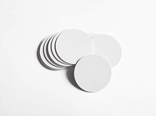 NTAG215 NFC Tags Summer Sun NFC 215 15PCS Round 30mm Blank Coin Cards PVC Cards with Fully Programmable 504 Bytes Memory 100% Compatible with TagMo Amiibo and All NFC Enabled Mobile Phones