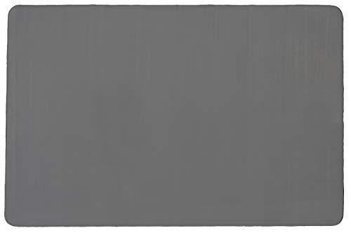 Primaflor - Ideen in Textil Kinder-Spiel-Teppich Einfarbig SITZKREIS - Grau, 200x300 cm, Velour-Kurzflor-Teppich für Kinderzimmer, Kindergärten und Schulen
