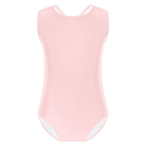 Freebily Maillot Clásico de Danza Ballet Gimnasia para Niña (3-14 Años) Body Mono Infantil Rosa A 7-8 años