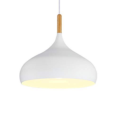 Lámpara Iluminación Colgante Moderno E27 Dormitorio Comedor Cocina Lámpara de Techo, Retro Madera Pantallas de iluminación, Colgante de...