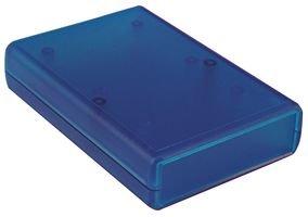 Hammond Electronics 1593QTBU - Caja de almacenamiento portátil (112 x 66 x 28 cm, plástico ABS, color azul transparente) 1 unidad.