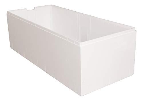 'aquaSu® Wannenträger zur Acryl-Duo-Wanne queDa | Bad | Badezimmer | 180 x 80 cm | weiß