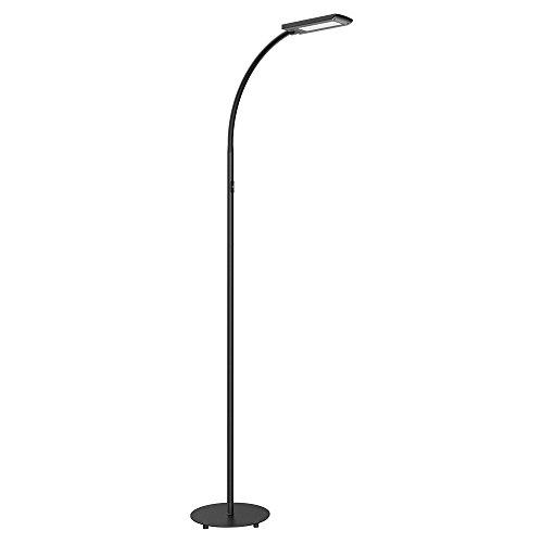 HOMMINI LED Stehleuchte, Stehleuchte auf dem Boden 5 Helligkeitsstufen 12 W, 172 cm 3 Einstellbare Längen mit Aluminium- und Stahlmaterial, effiziente Lampe für Wohnzimmer, Schlafzimmer, Büro und Studio