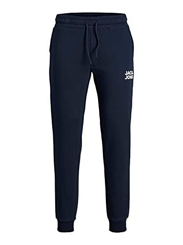 Mens Basic Jogger Sports Training Pants Elastic Waistband Comfortable Slim Fit Sweatpants Pockets JPSTGORDON, Color:Armada, Talla de pantalón:XS