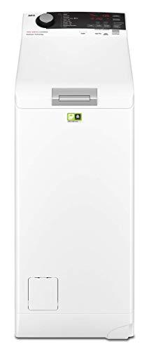 AEG L7TBE721 Lavadora de Libre Instalación, Carga Superior, 7 Kg / 1200 rpm, 10 Programas + Vapor, Programa Rápido, Inicio Diferido, Autoposicionamiento Tambor, Apertura Suave, LCD, Blanca, A+++-10%
