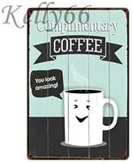 Complimentary Coffee Metal Sign Tin Poster Home Decor Bar Wall Art Painting