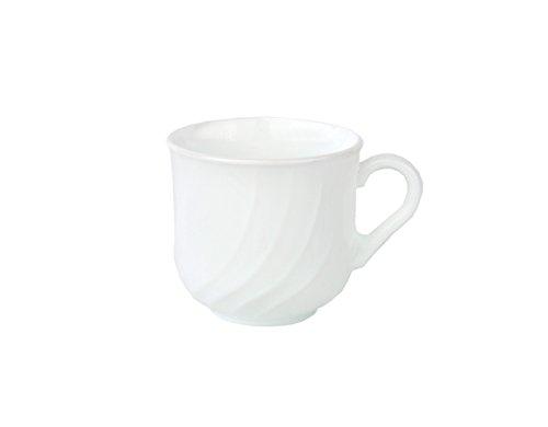Van Well Kaffeetasse Ebro 25cl aus Opal-Hartglas