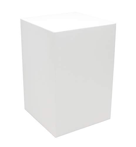 """Meister Sockel für Statuen + Figuren, Podest Größe """"L"""" = 20x20x30cm weiß lackiert, Holzsockel, Holzsäule"""