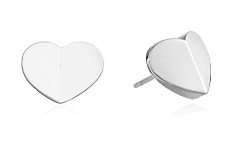 Kate Spade New York Heritage Spade Small Heart Studs Earrings Silver One Size