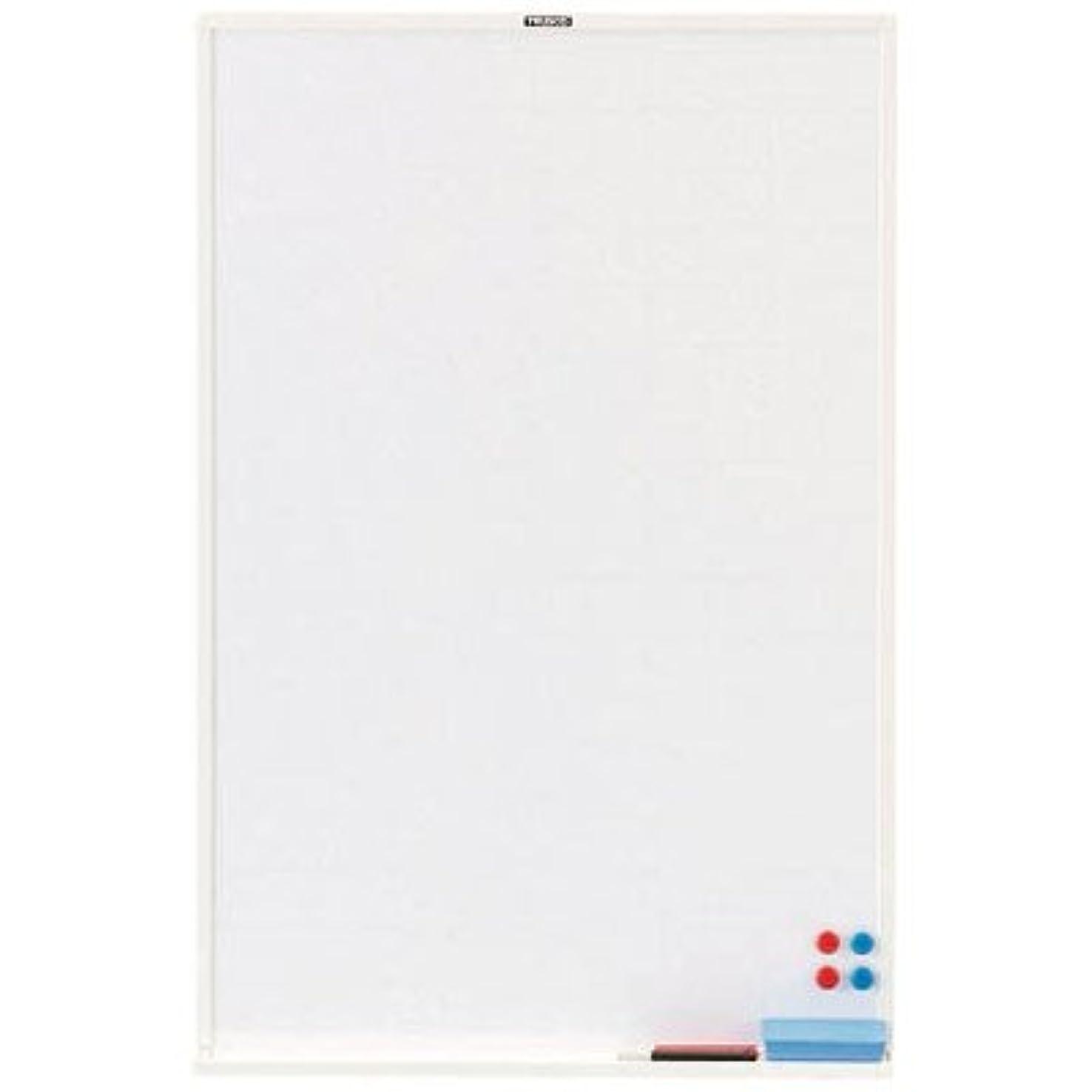 水素スタイル未就学トラスコ スチール製ホワイトボード 白暗線 ブロンズ 900×600 ※取寄せ品 WGH-32SA-BL