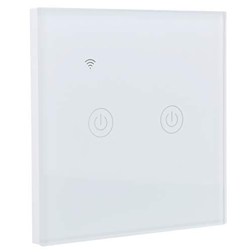 DS ‑ 101‑2 Interruptor WiFi con control remoto para teléfono móvil, Interruptor inteligente WiFi inalámbrico montado en la pared, Interruptor WiFi inteligente bidireccional 200‑240VAC