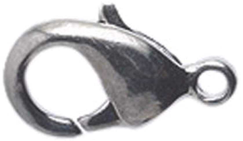 Shipwreck Beads Lead Free Zinc Alloy Lobster Clasps, 6 by 12 mm, Gunmetal, 40-Pack