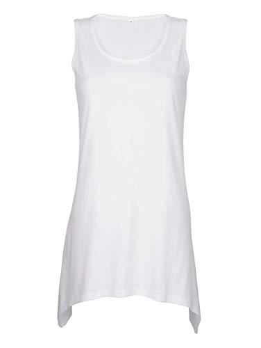 Maritim Damen Ausgestelltes Top Ärmellos in weiß aus Baumwolle im angesagten Zipfel-Look