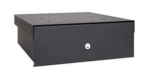 Arregui 22100-S1 - Caja fuerte para su instalación oculta en el zócalo del armario de cocina, 19L, 410x148x450mm, Negro
