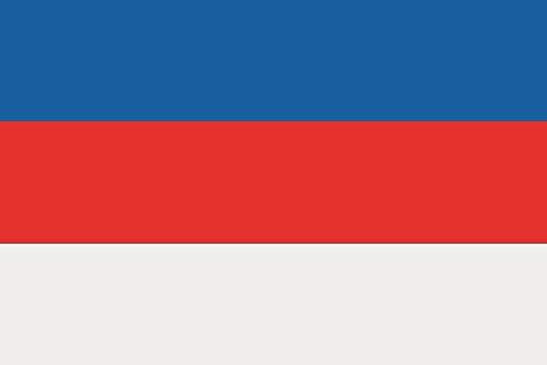 U24 Fahne Flagge Sorben Bootsflagge Premiumqualität 20 x 30 cm