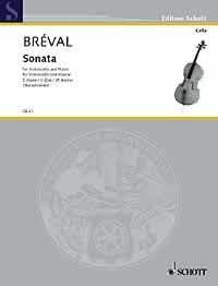 SONATE C-DUR OP 40/1 - arrangiert für Violoncello - Klavier [Noten / Sheetmusic] Komponist: BREVAL JEAN BAPTISTE aus der Reihe: CELLO BIBLIOTHEK