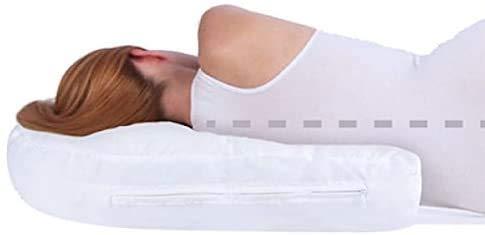 OEM SYSTEMS DOBO Cuscino Guanciale ergonomico per Posizione Sonno Notturna Laterale a Forma di U Migliora Sonno Schiena Cervicale - Bianco con Fodera Zip