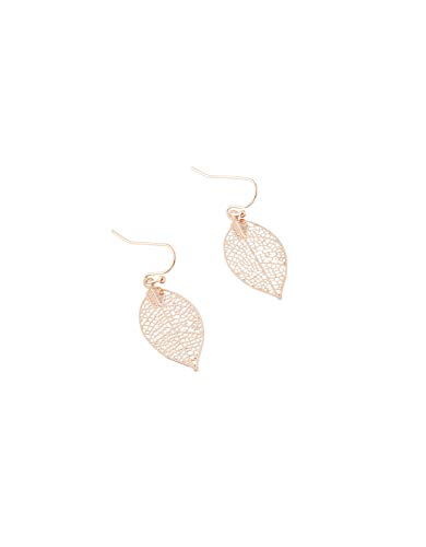 Accessorize Filigree Leaf Drop Earrings
