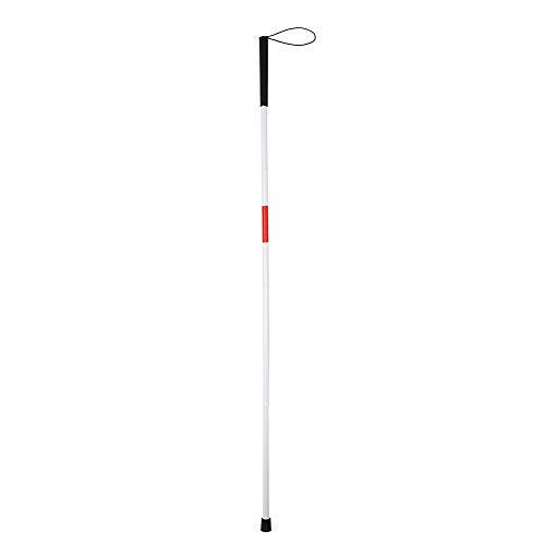 Bastón para ciegos, plegable, con mango de caucho, bastón de senderismo Aclumsy de 48,8 pulgadas de aluminio