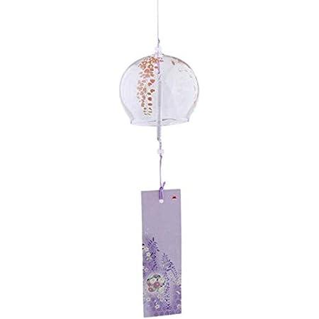 VOSAREA Japanische Windspiele Wind Glocken handgemachtes Glas Home Dekore japanische Kirschbl/üte Windspiele h/ängende Dekorationen