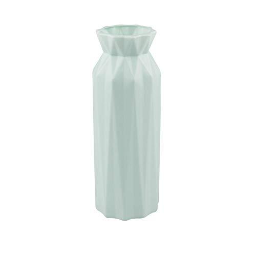 Vase Kunststoff Blumenvase Dekoration Home Weiße Vasen Imitation Keramik Vase Blumentopf Dekoration Blume Korb-Grün