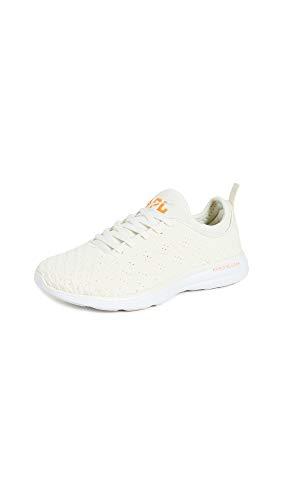 APL: Athletic Propulsion Labs Women's Techloom Phantom Sneakers, Pristine/White/Molten, 6.5 Medium US