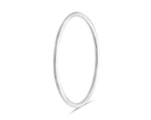 fajno Silberring Damen matt | Silberschmuck, Sterling Silber Ring | Damenring, Stapelring, Vorsteckring schmal, dünn