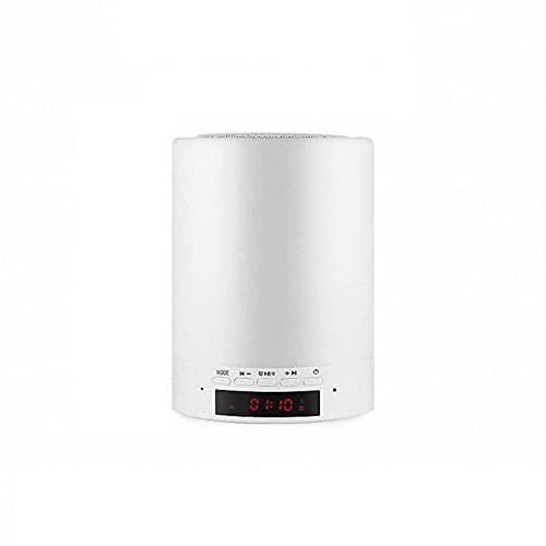 Lámpara de mesa La luz del altavoz Bluetooth se puede usar como un despertador para niños y una lámpara de mesa para exteriores aportable, luz nocturna regulable Lámpara Escritorio