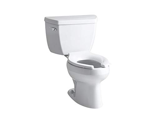 Kohler K-3505-0 Wellworth Classic Pressure Lite Elongated 1.4 gpf Toilet, Less Seat, White