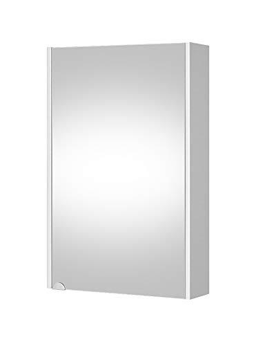 Planetmöbel Spiegelschrank Bad Gäste WC 50cm (Weiß)