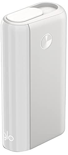 glo™ Hyper+ Tabakerhitzer (Enamel White), 20 Sticks pro Akkuladung, Boost-Modus, elektrischer Tabak Heater für klassischen Zigaretten Geschmack, Alternative zur E-Zigarette