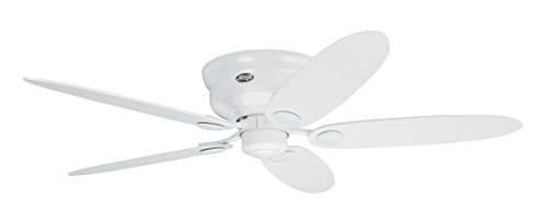 Hunter Fan 24377 Ventilador de techo, 75 W, 240 V, Blanco, 112 + 132 cm