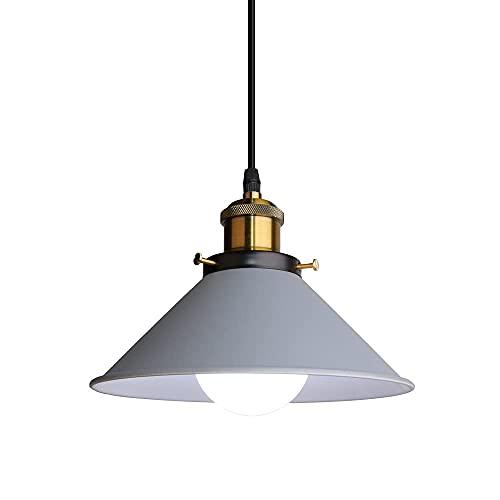 Lámpara Colgante de Techo LED Moderna Lámpara Techo Metal E27 para Salon...