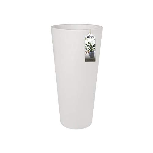 Elho Pure Straight Round High 40 – blomkruka för inomhus- och utomhusbruk – Ø 38,5 x H 79 – vit
