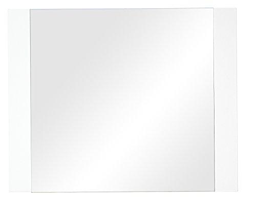 Stella Trading Espejo con colgadores, Madera, Blanco, 2 x 100 x 80 cm
