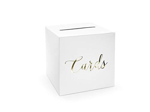 Geldbox für Hochzeitskarten Geschenkebox Hochzeitsfeier Zubehör (Gold)