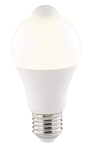 Luminea Bewegungsmelder Lampe: LED-Lampe, PIR-Sensor, 12 W, E27, warmweiß, 3000 K, 1.055 lm (Glühbirne mit Bewegungsmelder)