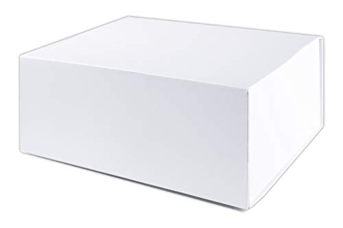 """LUXPaper White Gift Box with Lid and Magnet Closure, Large Size, Perfect for Gifting, Product Packaging, Shipping and Storage, Measures 10"""" x 8.25"""" x 4"""", Pack of 2"""