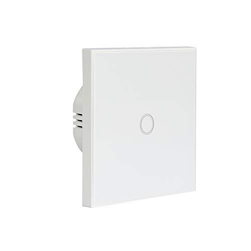 KKmoon® - Interruttore Wi-Fi Smart Life, 1 gang 2,4 GHz, presa di ricarica tramite un tasto APP, telecomando senza centratore, compatibile con Alexa Google Home IFTTT