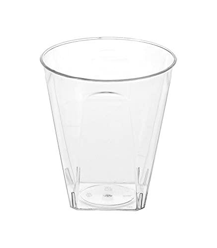20 x Verrine 6cl, Plastique Transparent (5 x 5,5 cm)