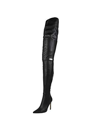 AROLLO Thigh High Echtleder Stiefel Eve (43 EU, Schwarz)
