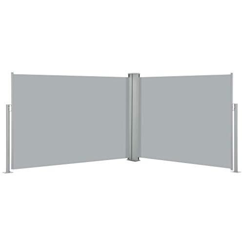 pedkit Ausziehbarer auf 1000 cm Doppelseitiger Sichtschutz Markise, Automatischen Rückrollfunktion, Doppelseitenmarkise Garten-Seitenmarkise, 100 x 1000 cm Anthrazit
