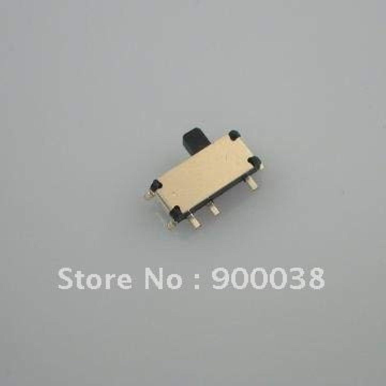 100pcs Miniature Slide Switch 3pin SMT Horizontal Toggle Switch ROHS